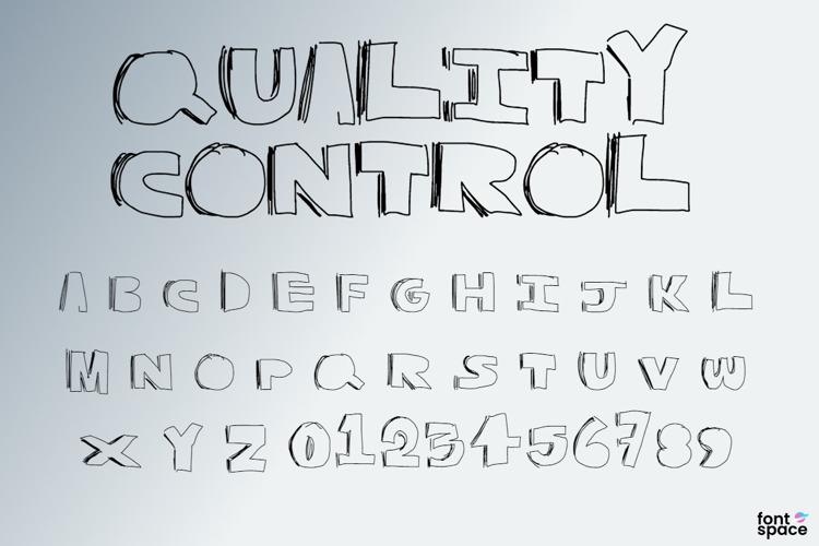 Quality Control Font