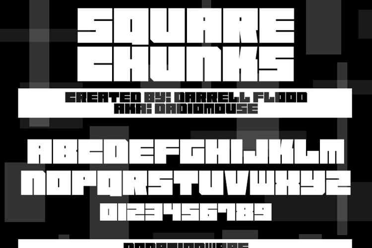 Square Chunks Font