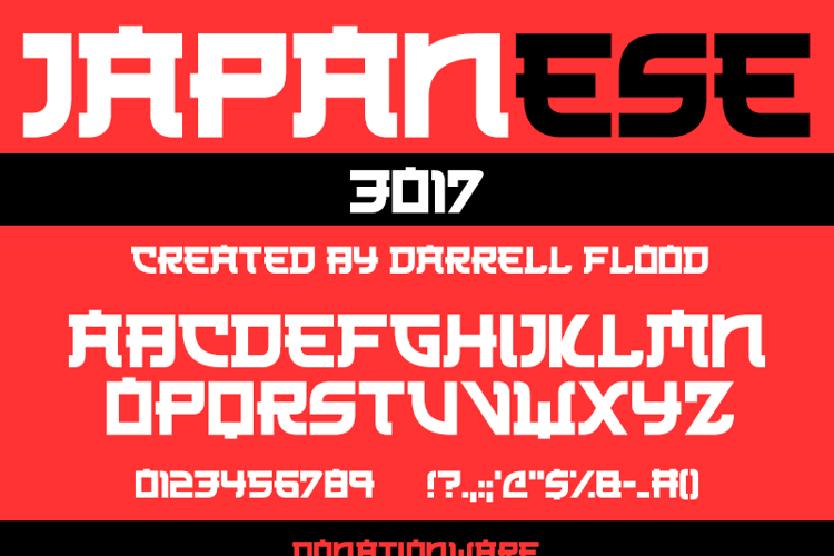 Japanese 3017 Font