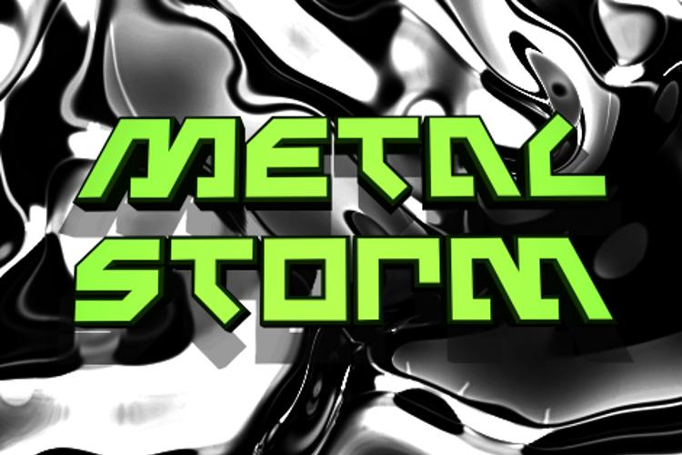 Metal Storm Font