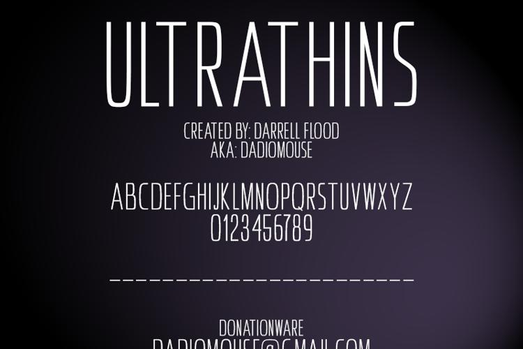 Ultrathins Font