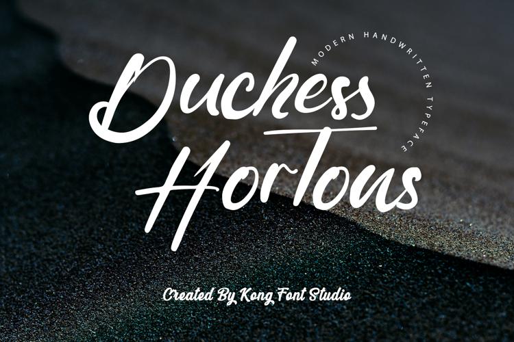 Duchess Hortons Font