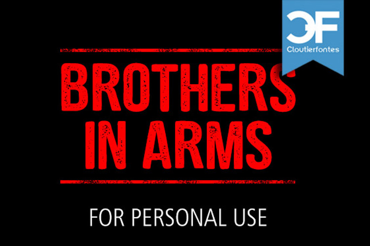 CF Brothers in Arms Font