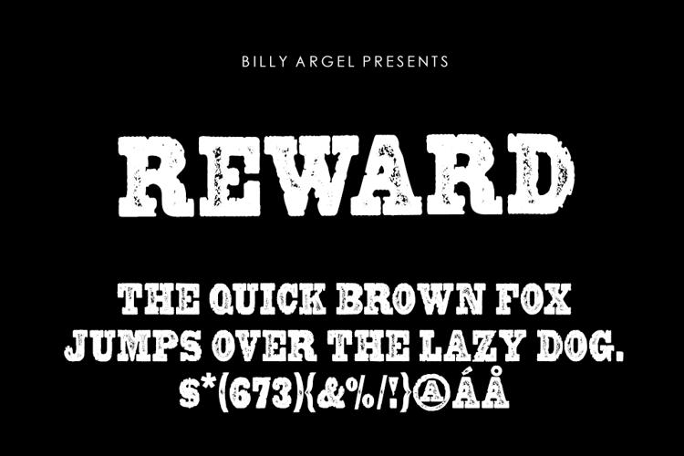 REWARD Font