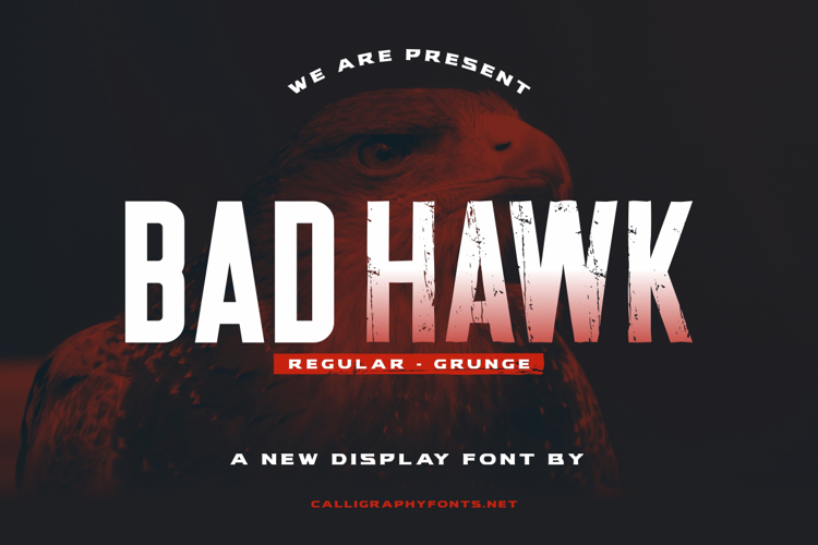 Bad Hawk Font
