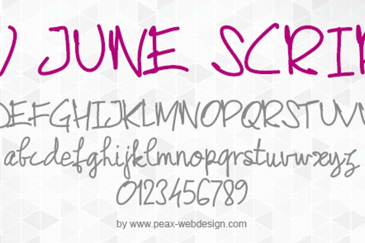 PWJunescript Font