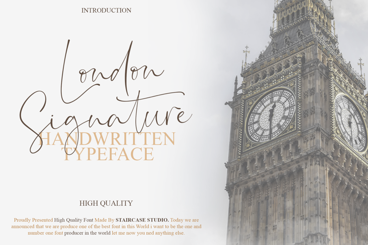 London Signature Font