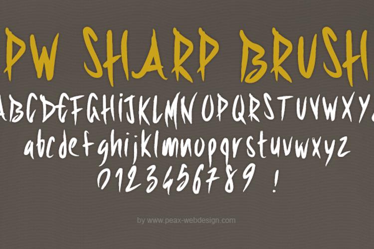 PWSharpBrush Font