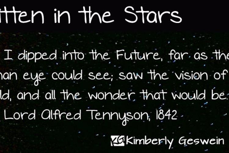 Written in the Stars Font
