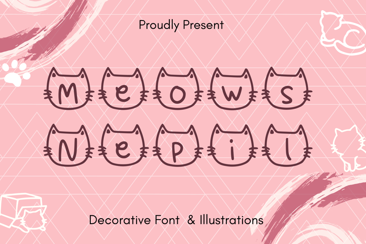 Meows Nepil Font