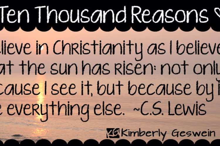 KG Ten Thousand Reasons Font