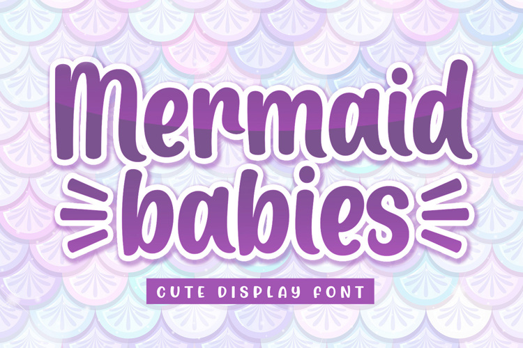 Mermaid Babies Font