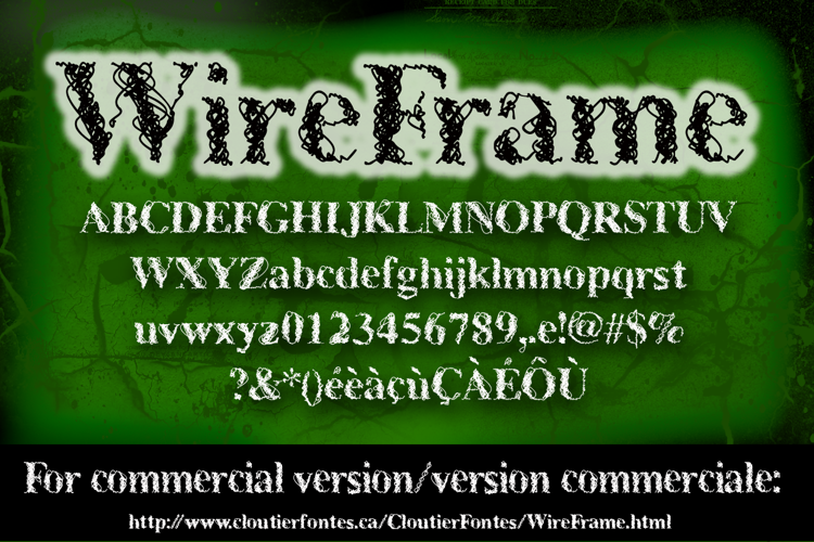 CF WireFrame Demo Font