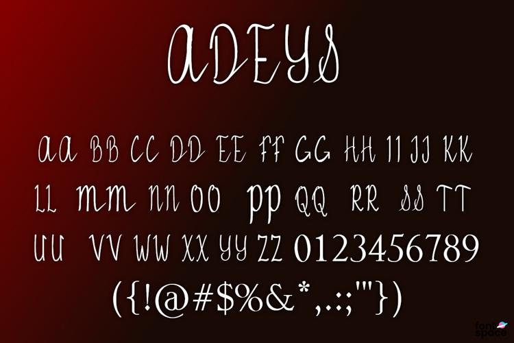 ADEYS Font