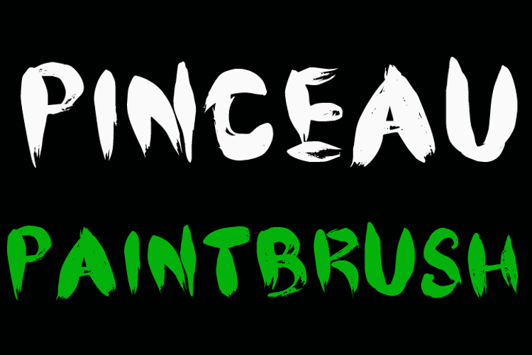 CF Pinceau Font