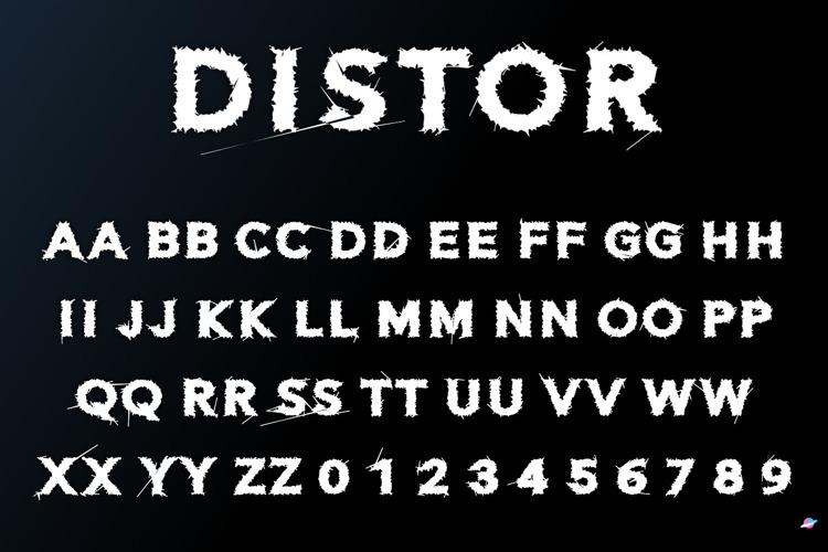 Distor Font