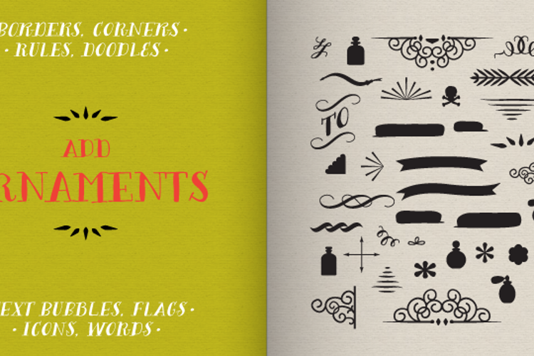 Bergamot Ornaments Font