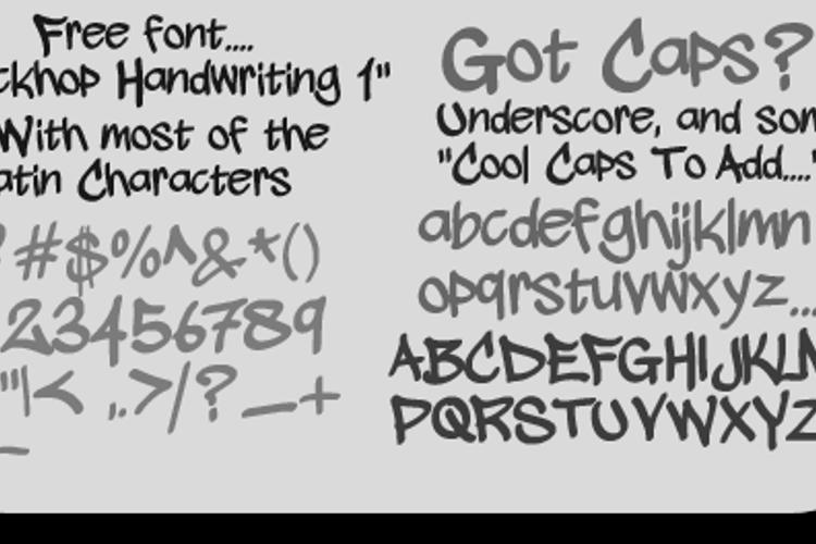 wickhop handwriting Font