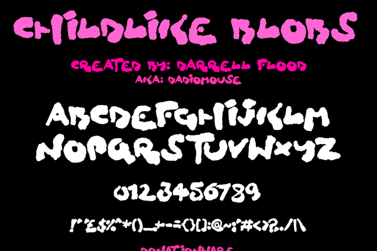 Childlike Blobs Font