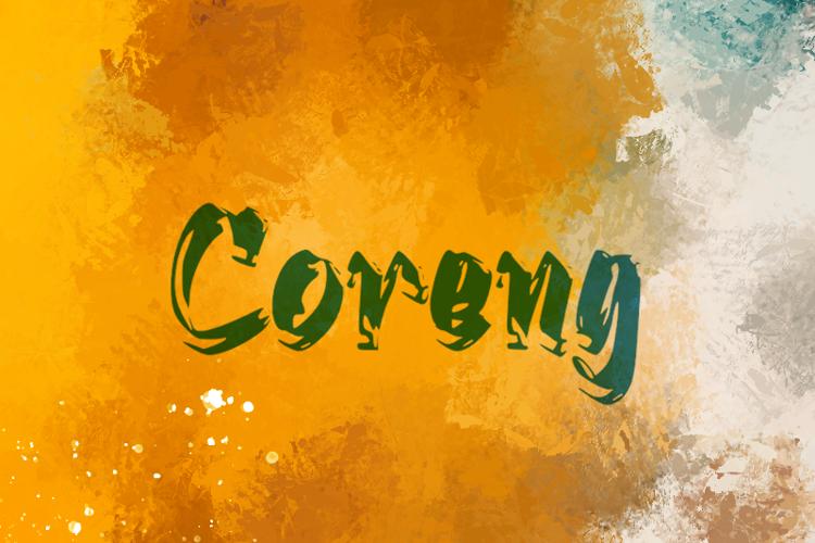 c Coreng Font