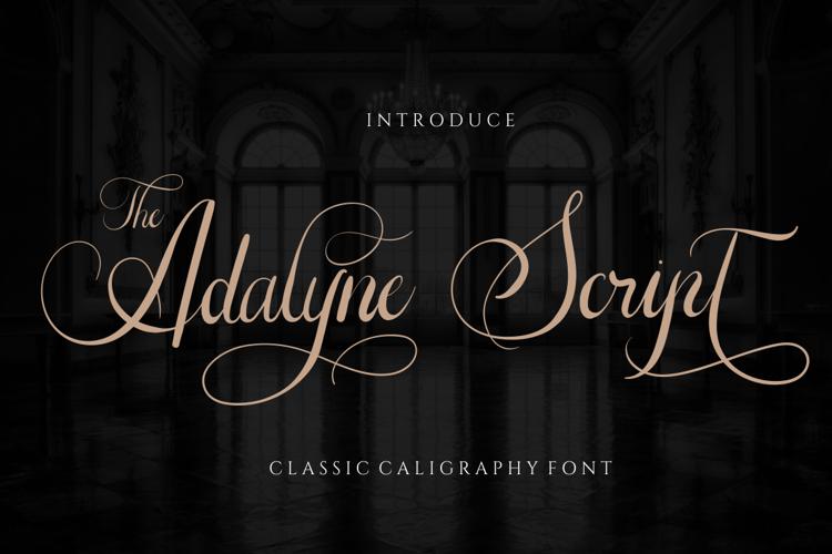 The Adelyne Script Font