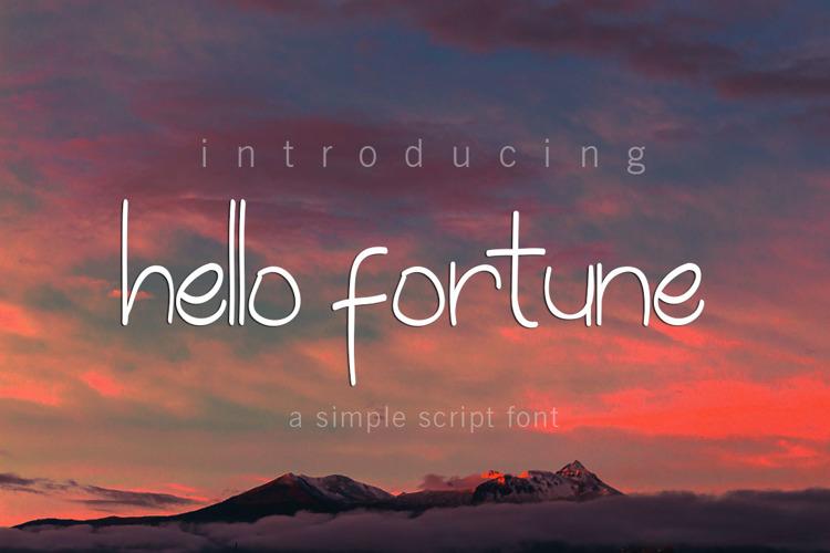 hello fortune Font