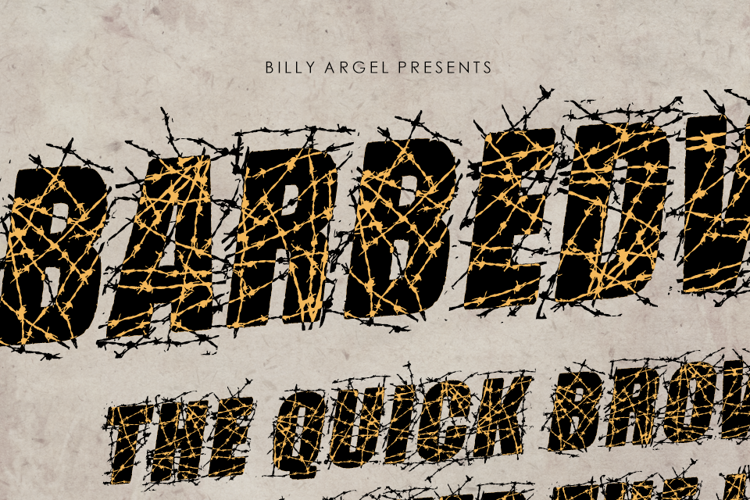 BARBEDWIRE Font