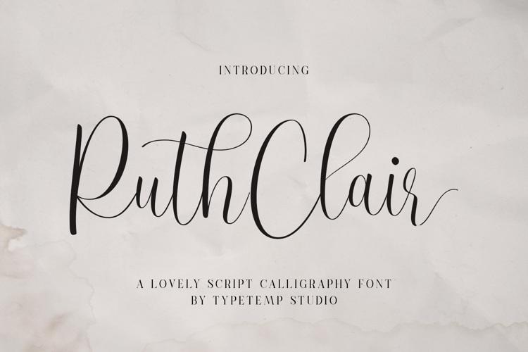 RuthClair Cree Font