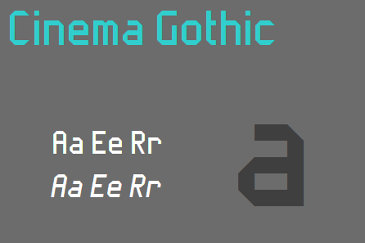 Cinema Gothic NBP Font