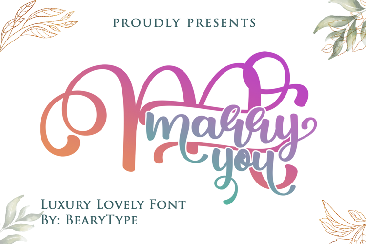 Marry You Font