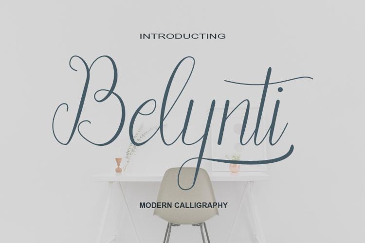 Belynti Script Font