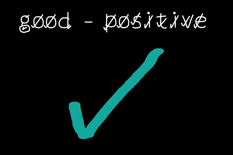 good positive Font