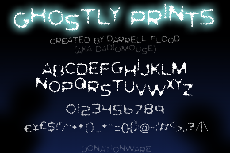 Ghostly Prints Font