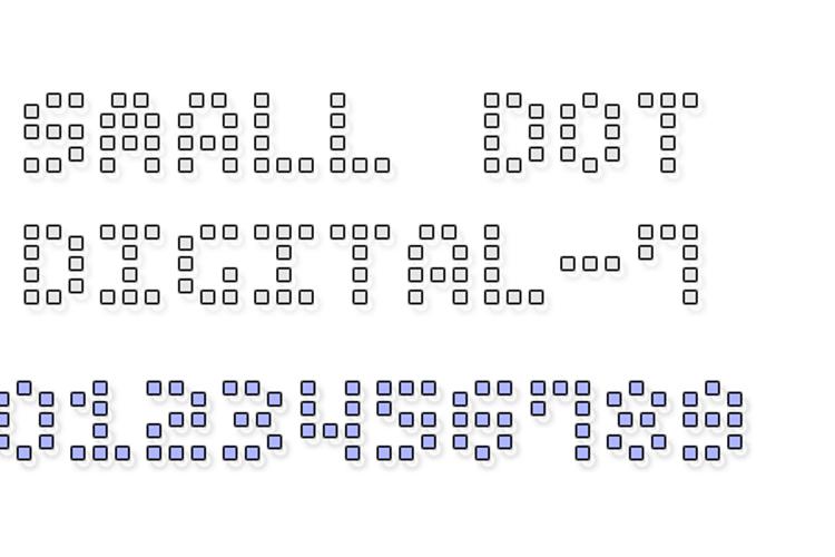 Small Dot Digital-7 Font