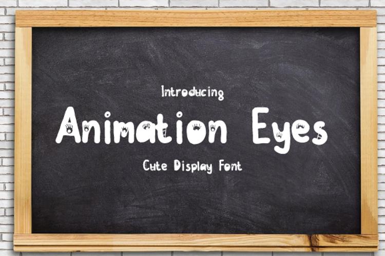 animasi eyes Font