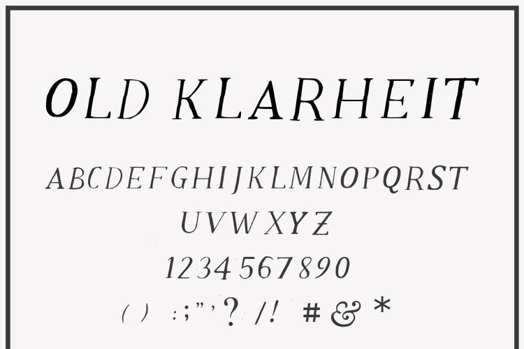 Old Klarheit Font