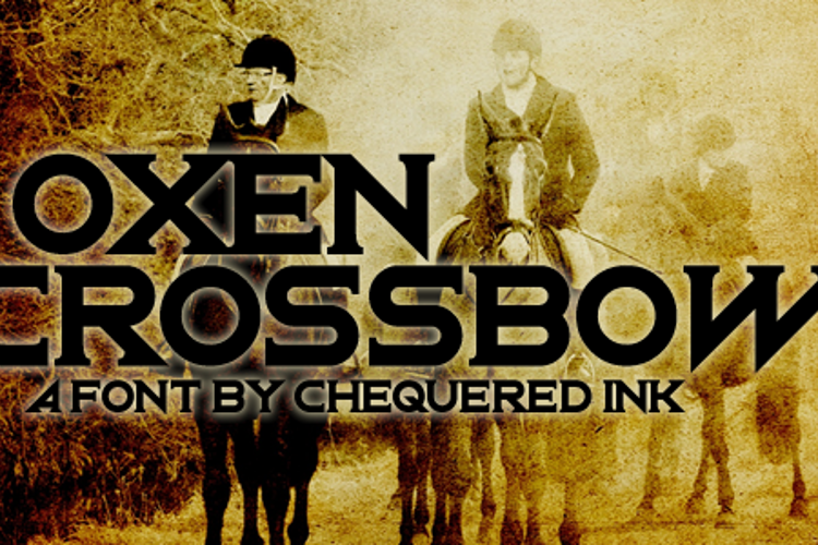 Oxen Crossbow Font