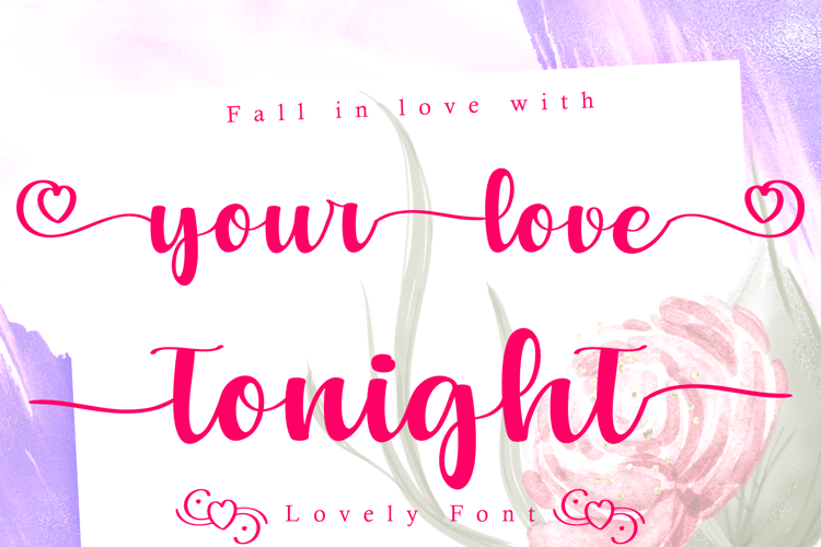 Your Love Tonight Font