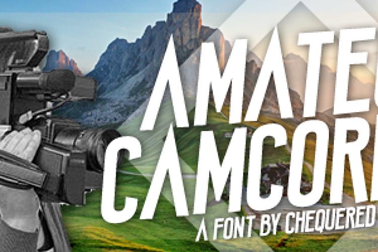 Amateur Camcorder Font