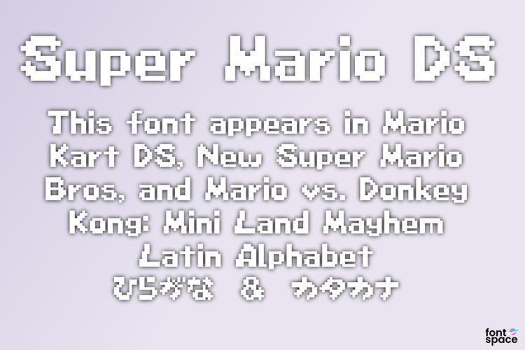 Super Mario DS Font