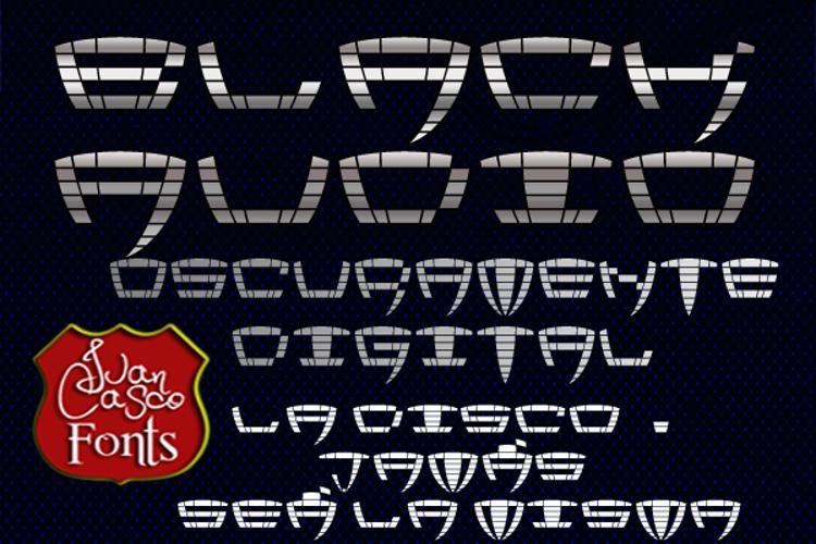 Black Audio Font