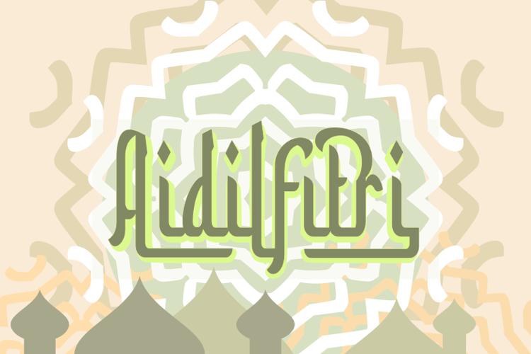 a Aidilfitri Font