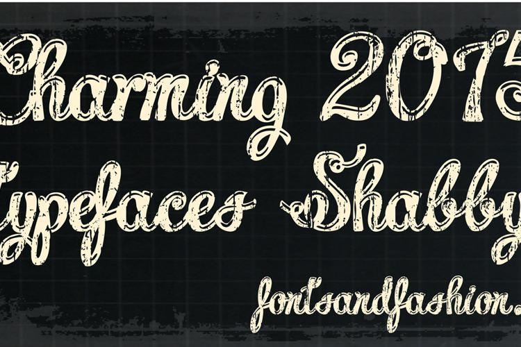 Charming shabby demo Font