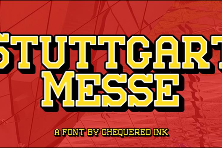 Stuttgart Messe Font