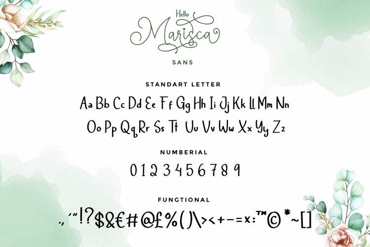 Hello Marisca Sans Font
