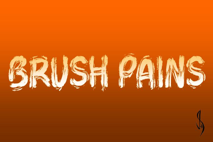 Brush Pains Font