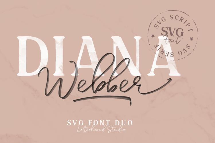 Diana Webber Caps Solid Font