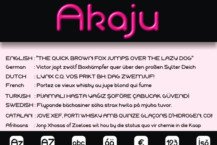 Akaju Font