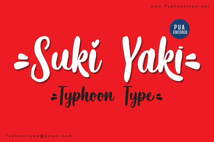 Suki Yaki - Font