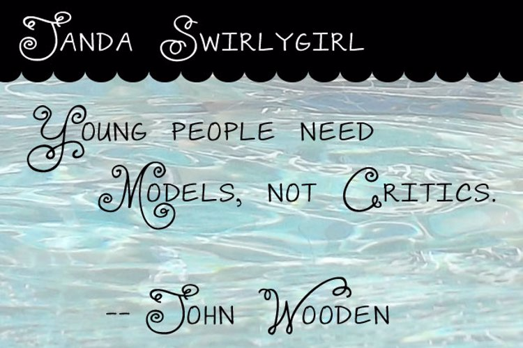 Janda Swirlygirl Font